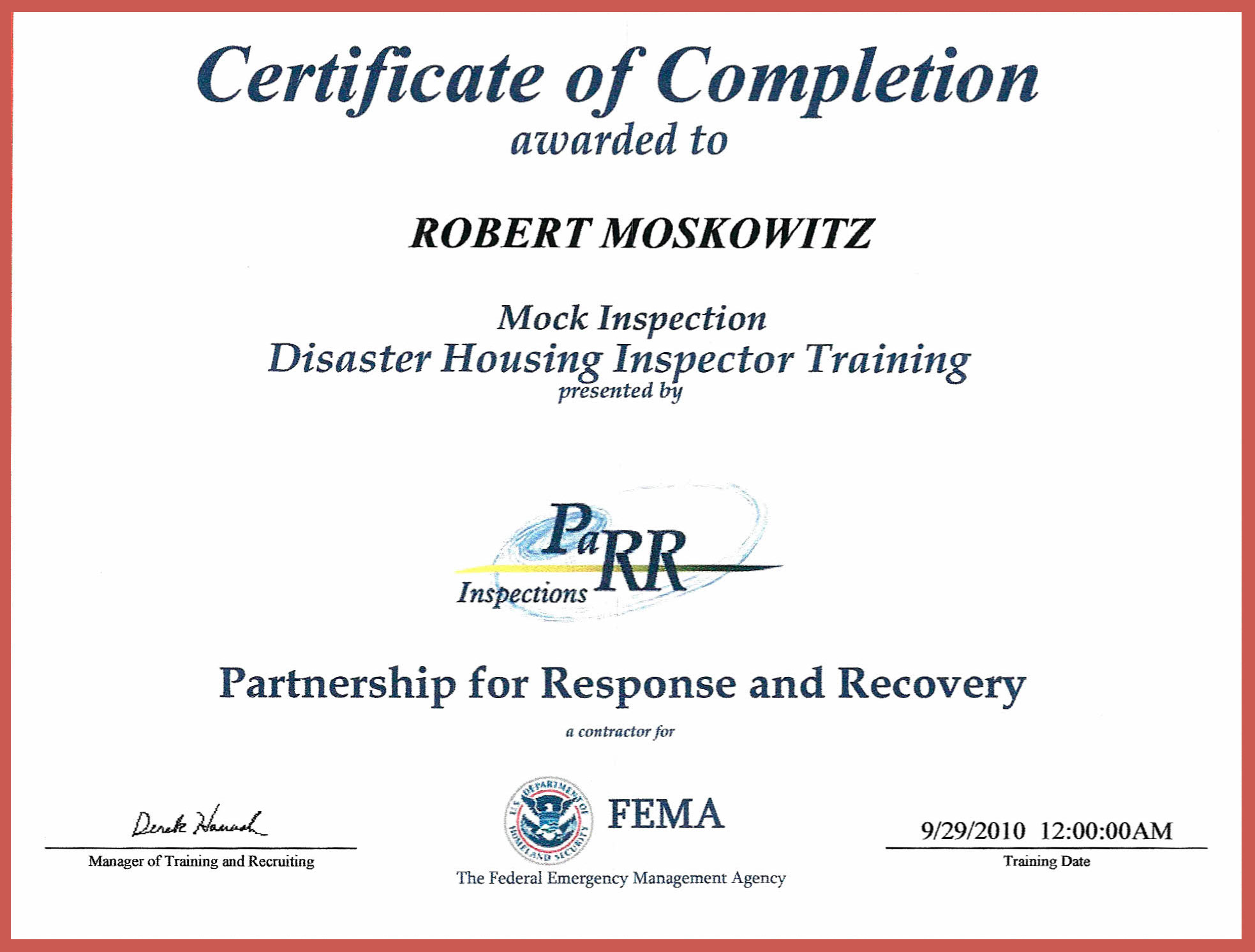 List Of Synonyms And Antonyms Of The Word Fema Certificates